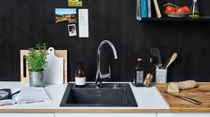 Oras Safira 1039F kitchen faucet with high spout and side lever. Classic style to fit all types of kitchens!