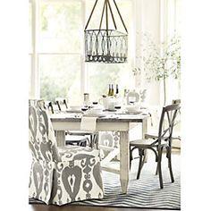 "Zinc Top Messina Dining Table - 92"""