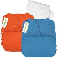 bumGenius 4.0 One Size Sassy & Moonbeam Cloth Diaper Boy - 2-Pack