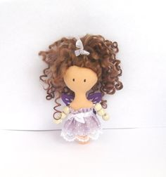 Mini Doll - child friendly - purple butterfly on Etsy, $21.75 AUD