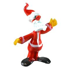 """""""#Santa Glass Figurine Item No. GF00321A01 $20.29 This love-able Santa glass figurine is hand blown and imported from #Russia. It's bright colors and adorable shape is sure to delight! Because each figurine is crafted by hand no two are exactly alike."""" Dragon Glass, Blown Glass Art, Glass Figurines, Baby Deer, Winter Fun, Bright Colors, Christmas Holidays, Russia, Santa"""