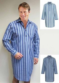 Mens Lighweight 100% Cotton Nightshirt. Size M L XL XXL XXXL c428e4963
