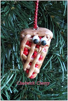 Cherry Pie Christmas Ornament Cherry Pie Ornament Pie Charm Funny Food Ornament Funny Food Homemade Berry Pie Home for the Holidays Pie Red Funny Food, Food Humor, Holiday Pies, Holiday Decor, Unique Christmas Ornaments, Berry Pie, Jewelry Quotes, Cherries, Food Styling