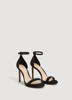 Sandały z paskiem wokół kostki - Buty dla Kobieta | MANGO Polska