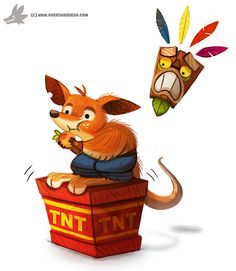 Crash Bandicoot by Piper Thibodeau for Sketch Dailies