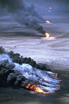 Gulf war oil fields.  Link to other photos.