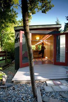 backyard yoga studio