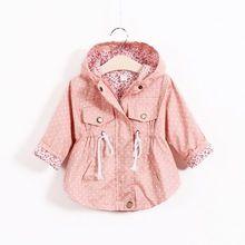 Jaquetas miúdo Casacos Trench coats Meninas Casaco Com Capuz Casacos Crianças Primavera Revestimento do Outono Para Meninas(China (Mainland))
