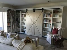 Farmhouse and Vintage Interior Design Tampa Andrea Lauren Elegant Interiors offers high end interior design and luxury home decorating services Vintage Interior Design, Interior Design Photos, Vintage Farmhouse, Library Design, Home Schooling, Luxury Homes, Bookcase, Barn, Study