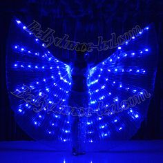 Exotic LED Isis Wings with blue transparent organza