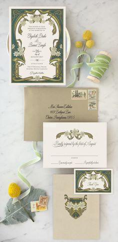 """From GoGo Snap Weddings! Oh so elegant and oh so fully customizable to work with your wedding colors! This wedding invitation suite is sure to set the tone for your big day. Available in full wedding suites, save the dates and all of your """"Day of"""" stationery such as programs and menu's."""