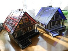 Stained glass houses #StainedGlassHouse
