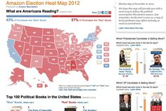 """Amazon map shows """"red"""" or """"blue"""" states based on political book purchases"""