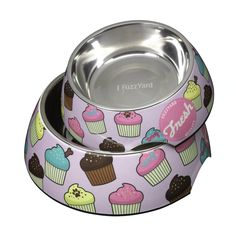Sweet tooth anyone? You and your dog will drool over this delicious design featuring multi-coloured cupcakes on a purple background! FuzzYard dog bowls are both stylish and practical. Cupcakes, Purple Backgrounds, Dog Harness, Dog Bowls, Your Dog, Sweet Tooth, Dog Cat, Fresh, Dogs