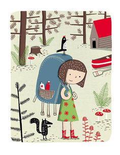 Élise Gravel - Art print - Camp d'été - Sur ton mur - 1