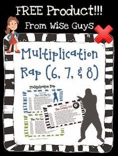 Your students will love to recite these raps that we created for the 6s, 7s, and 8s. It will be a great way for them to practice them in school, and even at home. You could even have your students perform them in groups!