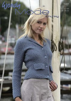 Jacket in Wendy Merino Chunky. Discover more Patterns by Wendy at LoveKnitting…