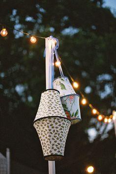 pretty lanterns and string lights | Ashley Seawell #wedding