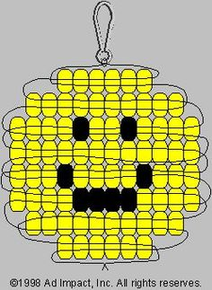 Smiley Face Pony Bead Pattern: