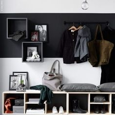 Can't beat great storage. I'm going to be looking for someone to custom make me a few pieces mid year if you know anyone good please give them a shout out. Basic designs, probably ply #building #newbuilds #bannisterbuilding #nordic #nordicdesign #mydesign #home #white #scandistyle image from Pinterest IKEA