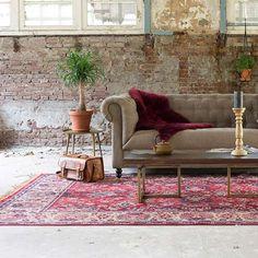 Dutchbone Carpet Bid old red - Vloerkleden - Loods 5 Chesterfield, Dining Chairs, Carpet, Retro, Interior, Furniture, Bohemian, Home Decor, Houses