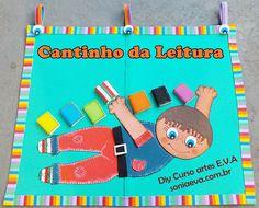 Painel EVA sala de aula cantinho da leitura