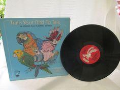 "Vinyl LP ""Train Your Bird to Talk"" by trackerjax on Etsy"