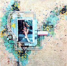 """Фабрика декора: Мастер-класс от Макаровой Даши. Страничка """"Летняя свежесть"""""""