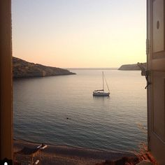 Who would't find #peace in this view?! Photo courtesy of @natstam23 ! #instasleep #cocomat #nature #island #life #serifos #amazing #instagood #instatravel #summer #eco #friendly #hospitality #instagreece #boat #sea #window #beach #soul