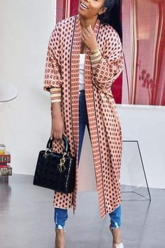 Chic Outfits, Fashion Outfits, Fashion Ideas, Kimono Fashion, Kimono Outfit, Knit Fashion, Fashion Clothes, Spring Outfits, Trendy Fashion