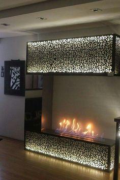 Door Design, Wall Design, House Design, Lcd Unit Design, Home Bedroom, Bedrooms, Lcd Units, Electric Fires, Light Panel