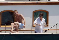Princess Caroline with her son, Pierre on the Pacha III. June 27th, 2010