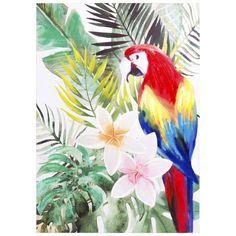 Toile imprimée perroquet 50x70 | Maisons du Monde