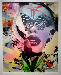 """""""Mind Over Fly"""" Mixed media mural artwork by Dain #street #art"""