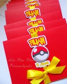 Convite Pop Up - Pokémon