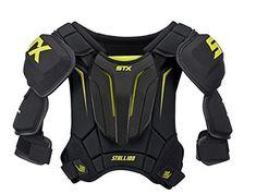 STX Stallion 300 Senior Ice Hockey Shoulder Pad, Black/Ye…