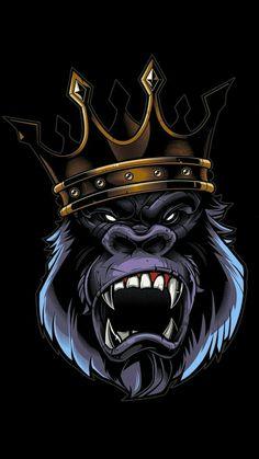 King Kong in the trunk Gorilla Tattoo, Cartoon Kunst, Cartoon Art, King Kong, Graffiti Art, Gorilla Wallpaper, Tier Wallpaper, Wallpaper Art, Monkey Art