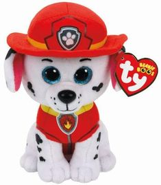 TY Beanie Babies Paw Patrol Chase - Cuddle up to your favourite Paw Patroller with these Ty soft toys.TY Beanie Babies Paw Patrol Chase Small - Cuddle up to your favourite Paw Patroller with these Ty soft toys. Ty Beanie Boos, Beanie Babies, Dog Beanie, Paw Patrol Marshall, Ty Peluche, Paw Patrol Plush, Ty Toys, Dalmatian Dogs, Lemur