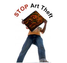 What to do about art theft... when artists know their artwork is stolen...