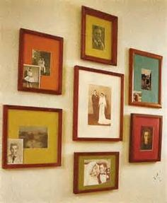 creative ways of hanging colored photographs - Bing Images