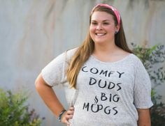 Image of Comfy Duds Big Mugs Slouchy Tee - Lovely plus size fashion for the coffee drinker in your life!