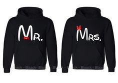 Couple Hoodie - Mr. and Mrs. - 2 Couple Hodies -  Matching Love Hoodie