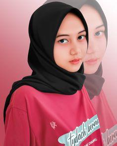 Hijab Casual, Hijab Chic, Beautiful Hijab Girl, Indonesian Girls, Girl Hijab, Hijabs, Cute Cartoon, Hijab Fashion, Simple Designs