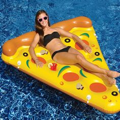 Swimline 90645 Giant Inflatable Pizza Slice Float Raft for The Lake Beach Pool in Toys & Hobbies, Outdoor Toys & Structures, Sand & Water Toys, Floats, Rafts Inflatable Float, Giant Inflatable, Pizza Pool Float, Sommer Pool Party, Pool Rafts, Swimming Pool Water, Pool Floats, Lake Floats, Water Toys