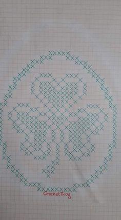 Easter Crochet, C2c, Filet Crochet, St Patricks Day, Easter Eggs, Diy And Crafts, Cross Stitch, Bullet Journal, Valentines