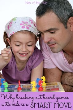 Playing board games with our kids is so valuable for so many reasons! Take the time for a family game night tonight!