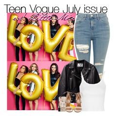 """Teen Vogue July issue with Little Mix"" by rowenafsouriya ❤ liked on Polyvore featuring Topshop, Casetify, Bobbi Brown Cosmetics and Aquazzura"