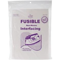 @Overstock - Fusible non-woven interfacing is an essential layer of fabric that provides support for garments through repeated wear and washings. The interfacing is three yards to use on  any area of your sewing project that is in need of extra support.  http://www.overstock.com/Crafts-Sewing/Fusible-Non-Woven-Interfacing/6204011/product.html?CID=214117 $6.89