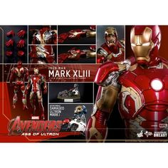 Hot Toys Movie Masterpiece Diecast Avengers Age of Ultron Mark XLIII 1/6 Scale MMS278D09 Hot Toys Movie Masterpiece Diecast Avengers Age of Ultron Mark XLIII 1/6 Scale MMS278D09...