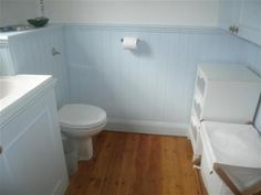 Tongue and groove bathroom panelling